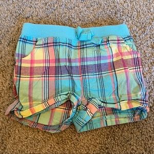 Girls plaid shorts Sz 12 months
